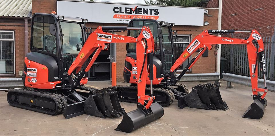Kubota Mini Digger Investment for Clements Plant & Access Hire