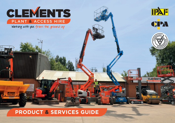 clements plant & access hire products and services guide